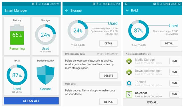 Manage RAM on Galaxy S6