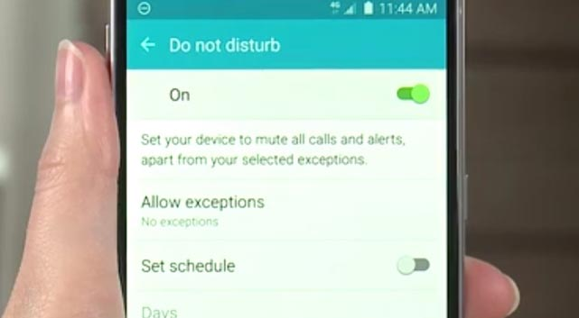 Doing Samsung Galaxy S6 Do Not Disturb Mode Tips