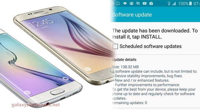 samsung galaxy s6 manual update